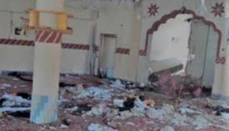 बलूचिस्तान  के मस्जिद में हुआ बम धमाका ।