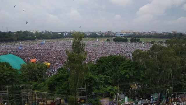 पटना रैली की फर्जी तस्वीर, ट्विटर पर लिए गए मजे