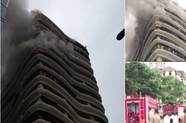 मुंबई : परेल इलाके के क्रिस्टल टावर में लगी आग, 2 की मौत, 16 लोग घायल