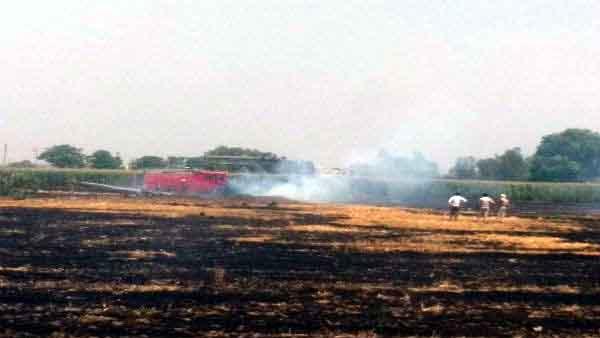 फाइटर प्लेन मिग-29 पंजाब के नवांशहर में हुआ क्रैश, पायलट सुरक्षित।