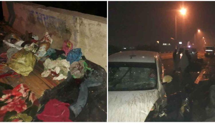 हरियाणा : फुटपाथ पर सो रहे मजदूरों को कुचला कार ने, फिर पुल से 70 फीट नीचे गिरी, 5 की हुई मौत
