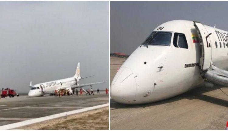 म्यांमार एयर लाइन के विमान का लैंडिंग गियर हुआ फेल, बड़ा हादसा टला